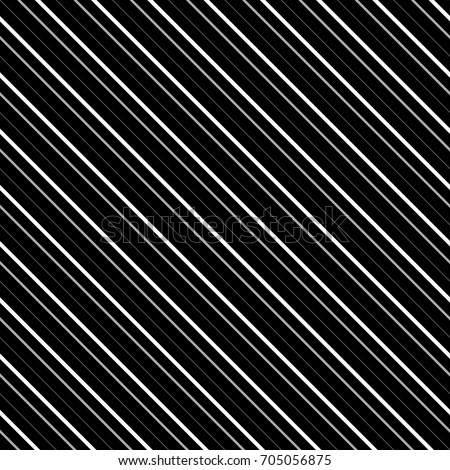 Diagonal lines abstract on black background. Seamless surface pattern design with linear ornament. Angled straight stripes motif. Slanted pinstripe. Striped digital paper for print. Regimental vector.