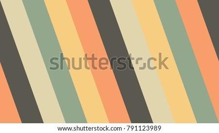 Diagonal Stripe Retro Color Background Vector