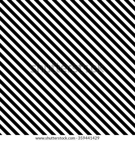 Diagonal stripe seamless pattern. Geometric classic monochrome stripes line background.