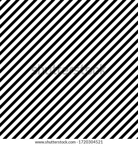 Diagonall lines pattern. Black lines on white background. Simple repeat ornament. Vector illustration. Сток-фото ©