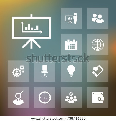 Diagram icon business set simple finance vector illustration