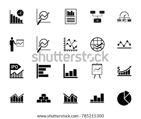 Diagram icon set