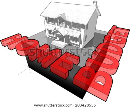 diagram of a classic colonial house and \