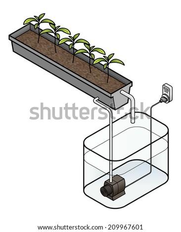 Diagram Of An Ebb And Flow Hydroponics Setup Ez Canvas