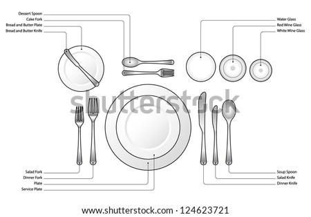 Formal Dinner Setting formal dinner, business dinner or semi-formal dinner place setting