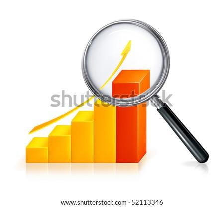 Diagram Search, vector icon