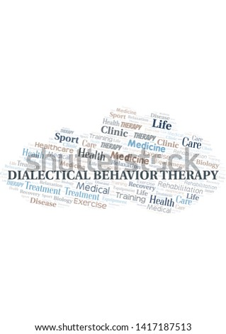 Dialectical Behavior Therapy word cloud. Wordcloud made with text only.