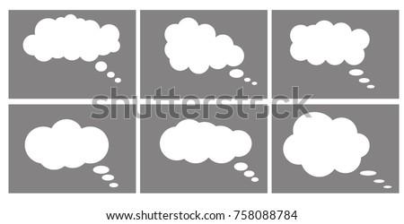 Dialog box icon, chat cartoon bubbles. ストックフォト ©