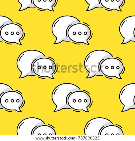 dialog bubble doodle colored