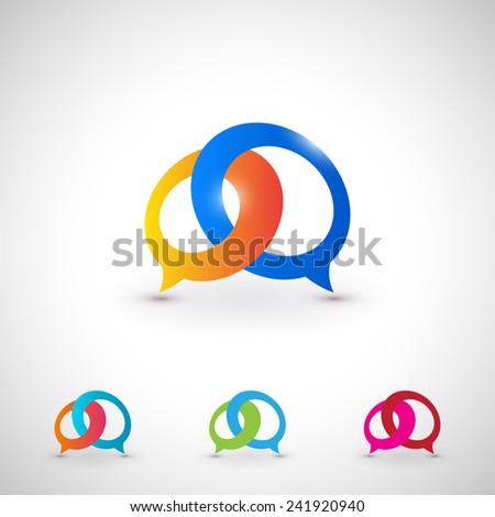 dialog bubble icon set