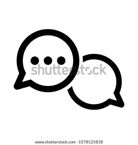 dialog, bubble talk, communication icon outline vector