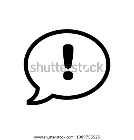 Dialog icon with exclamation mark