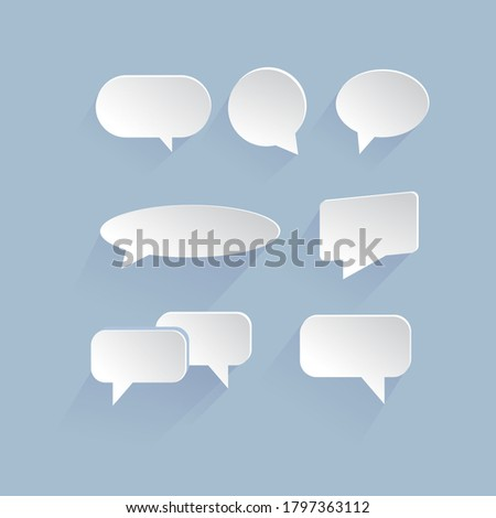 Dialogue bubble. Isolated background vector illustration eps 10. Paper style