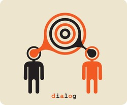 Dialogue,contact, conversational exchange between two individuals