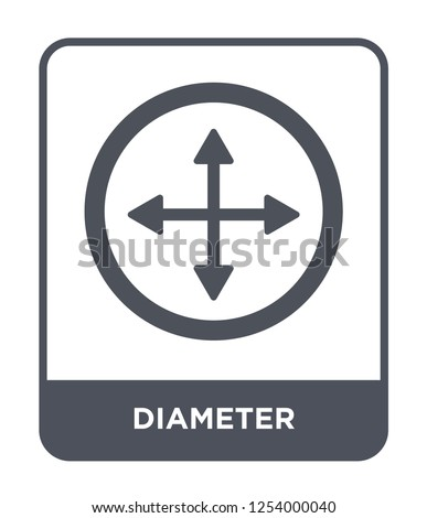 diameter icon vector on white background, diameter trendy filled icons from Geometry collection, diameter simple element illustration