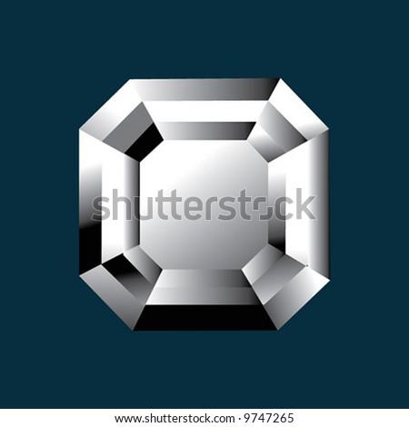 Diamond asscher shape