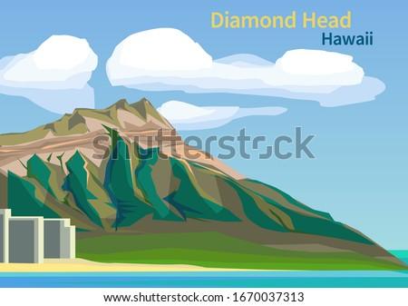 diamond head crater on the
