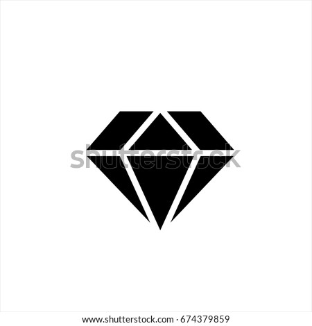 Diamond icon in trendy flat style isolated on background. Diamond icon page symbol for your web site design Diamond icon logo, app, UI. Diamond icon Vector illustration, EPS10.