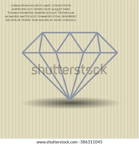 Diamond icon vector illustration
