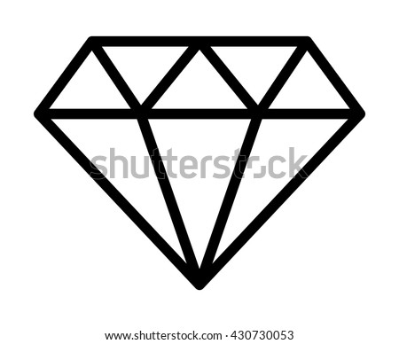 diamond jewel gemstone line art