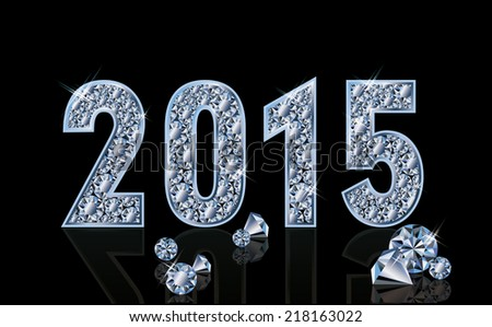 Diamond 2015 new year banner vector illustration