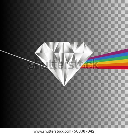 diamond prism with light
