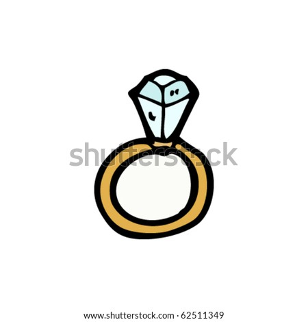 diamond ring cartoon