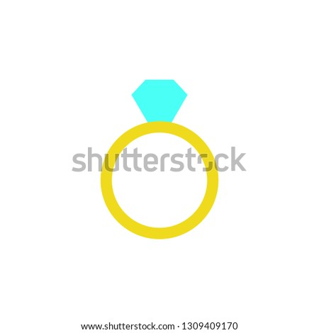 Diamond ring icon. Element of Web Valentine day icon for mobile concept and web apps. Detailed Diamond ring icon can be used for web and mobile