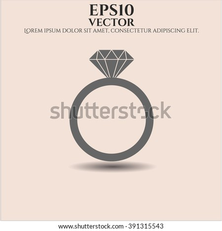 Diamond Ring vector symbol