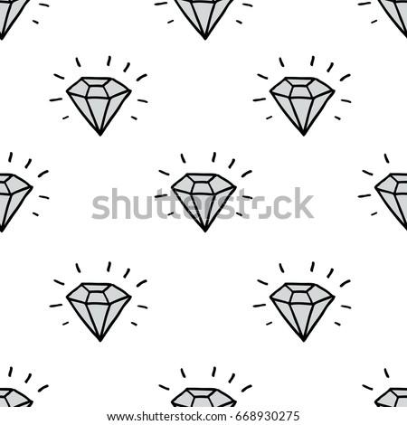 diamond seamless doodle pattern