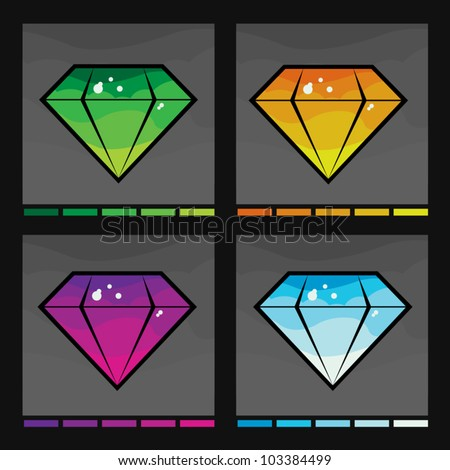 Diamond set in four colors