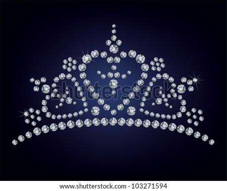 Diamond tiara - vector illustration - stock vector