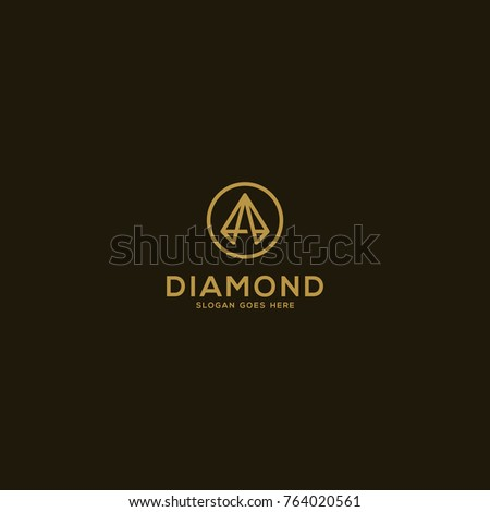 Diamond vector line art, Diamond logo concept vector illustration