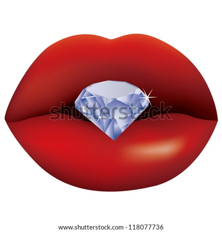 Diamonds and lips