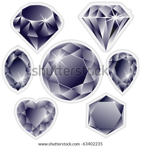 diamonds labels against white background, abstract vector art illustration