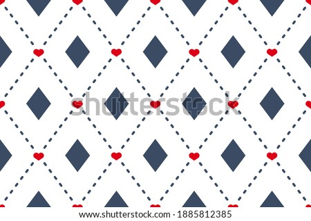 Diamonds motif cute baby pattern traditional argyle geometric ornament. Minimalist background simple geo all over print block for kids fashion textile, towel, shirt fabric, interior wallpaper, cards. Stockfoto ©
