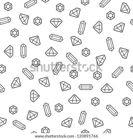 Diamonds seamless pattern (vector version)