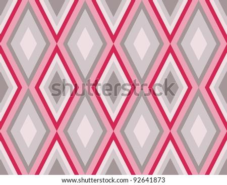 diamonds seamless retro abstract pattern. Vector illustration