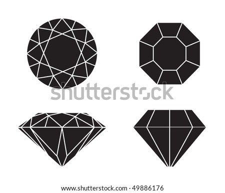 Diamonds wireframe on white background