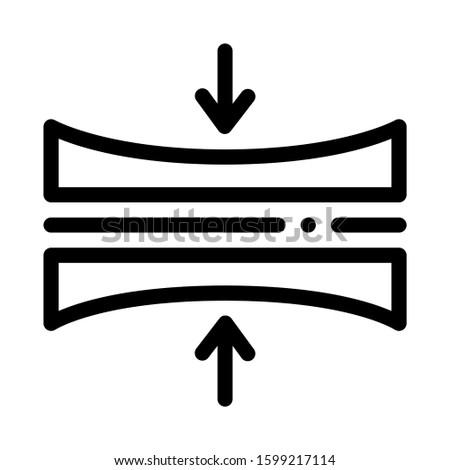 Diaper Thin Layer Icon Vector. Outline Diaper Thin Layer Sign. Isolated Contour Symbol Illustration