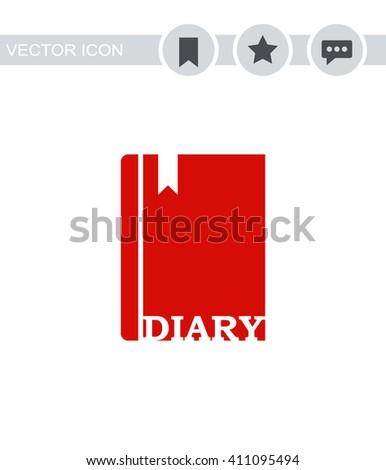 diary icon diary icon vector