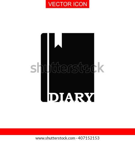 diary icon diary vector diary