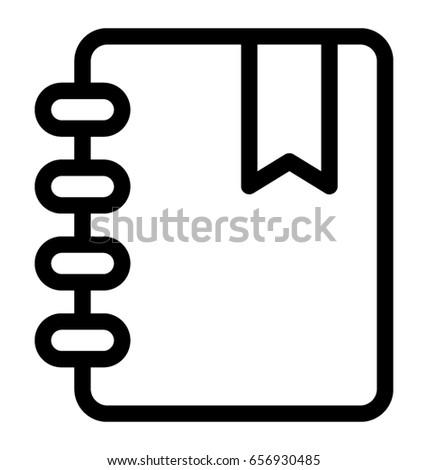 diary vector icon