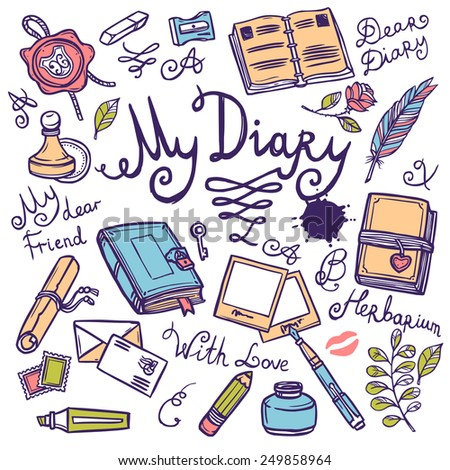 diary writing instrument hand