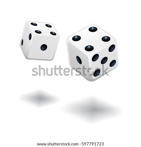 dice gambling template white