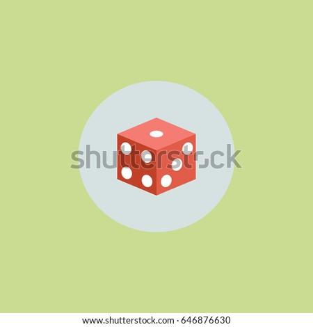 dice icon Photo stock ©
