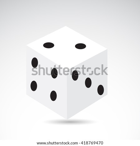 dice icon isolated on white