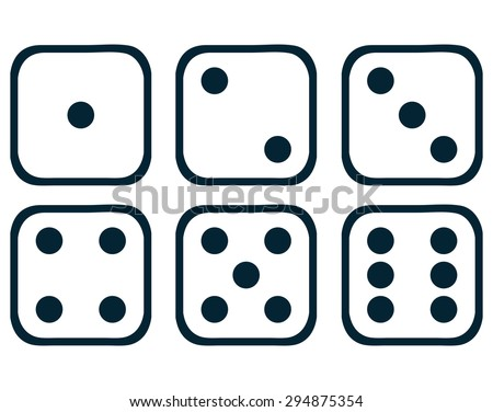 dice set  vector illustration