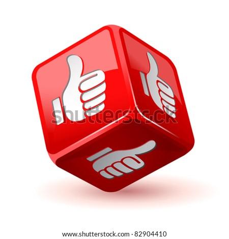 dice thumb up icon