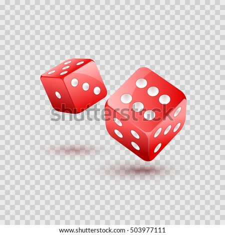 dice vector design isolated